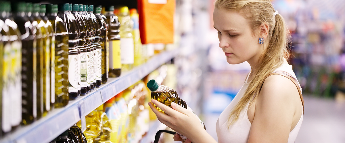 shopper-checking-product-label